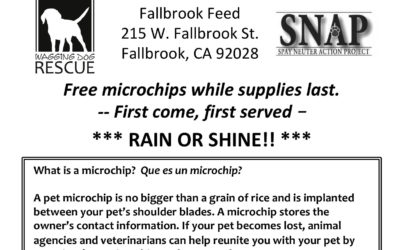 Free Pet Microchips
